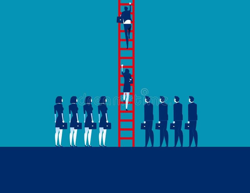 La gente di affari ammucchia ed alzandosi Illustrazione di vettore di affari di concetto, affare corporativo, gruppo illustrazione di stock