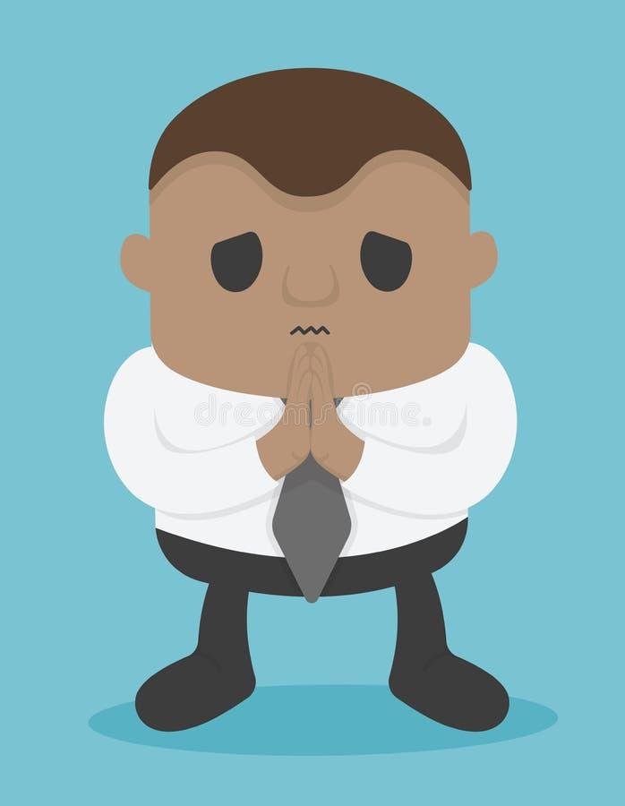 La gente di affari che si rammarica del gesto di mano di manifestazione, mi scusa, in royalty illustrazione gratis