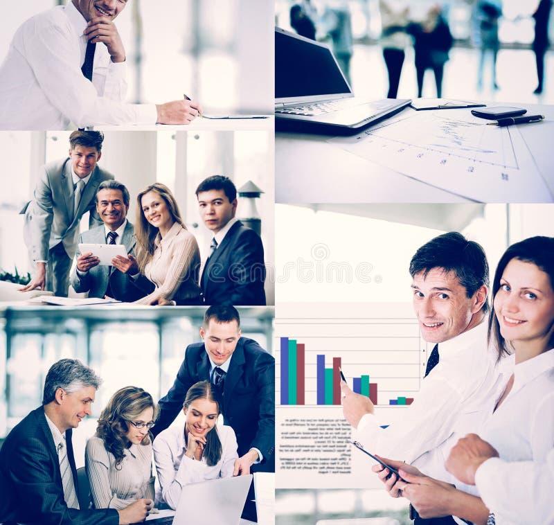 La gente di affari nelle situazioni differenti degli addestramenti, presen fotografie stock libere da diritti