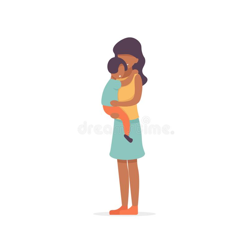 la gente di afro del figlio e della madre illustrazione di stock