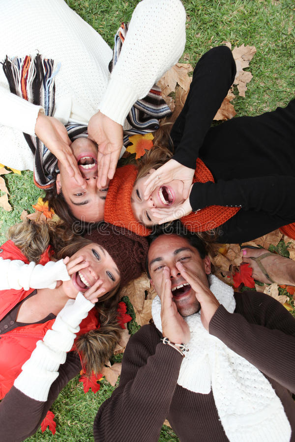 La gente di autunno fotografie stock