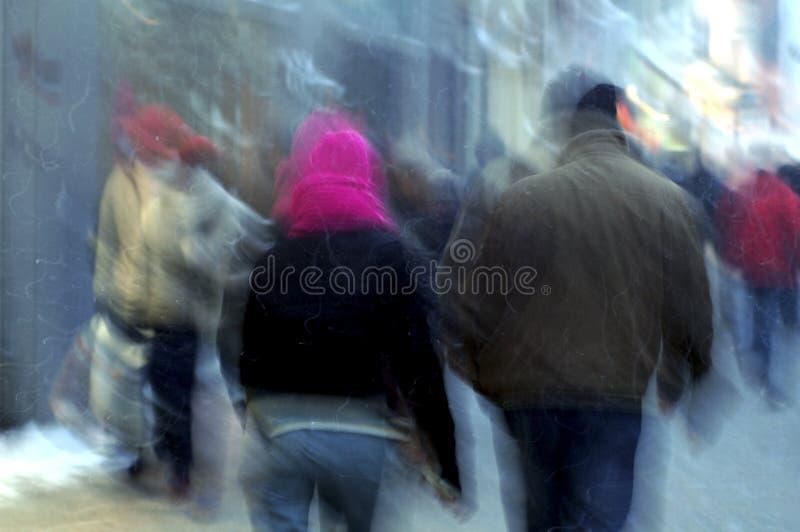 La gente di blure di movimento fotografia stock