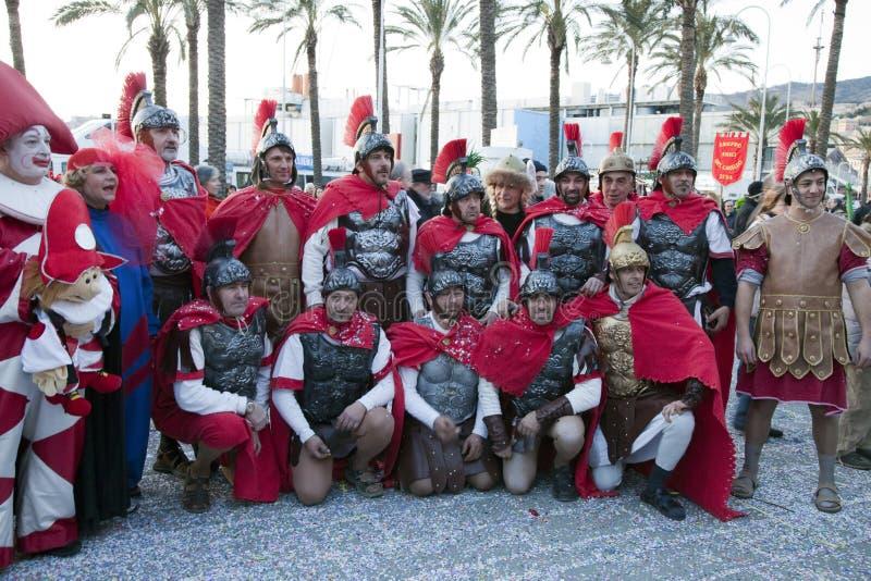 La gente di carnevale di Genova fotografia stock