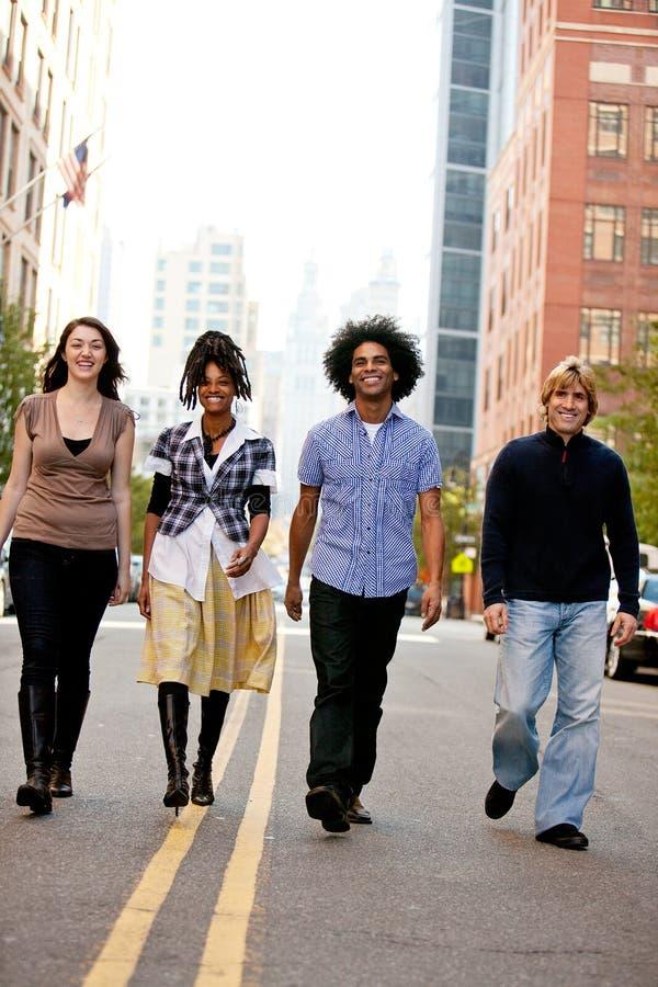 La gente di città fotografia stock libera da diritti