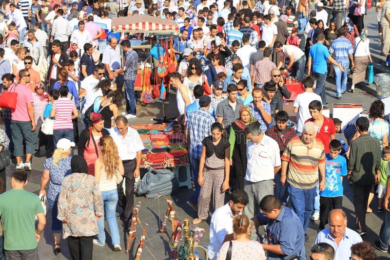 La gente di Costantinopoli a Eminonu immagini stock