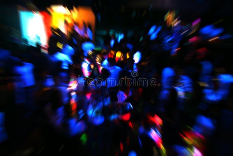 La gente di Dancing della discoteca immagini stock