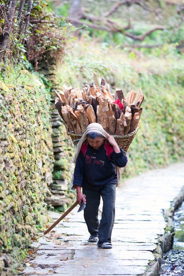 La gente di Gurung, Nepal fotografia stock