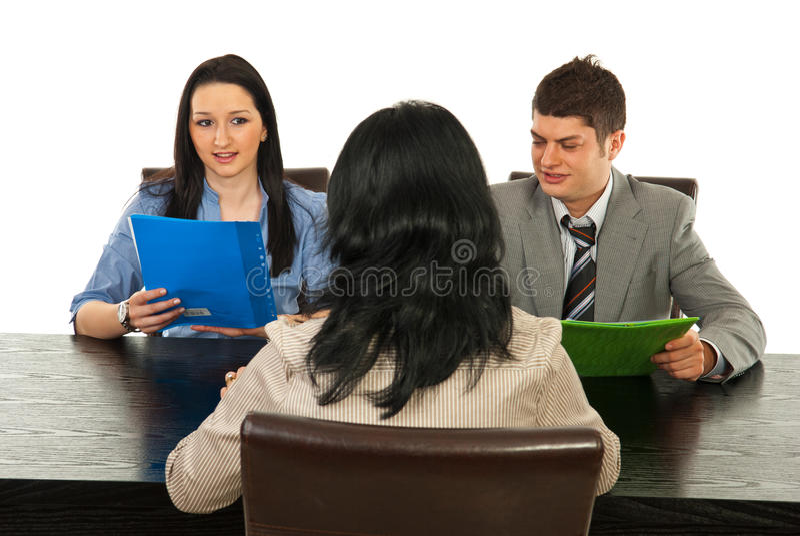 La gente di intervista immagini stock libere da diritti