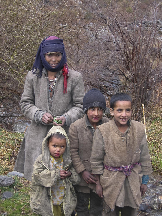 La gente di montagna fotografia stock libera da diritti