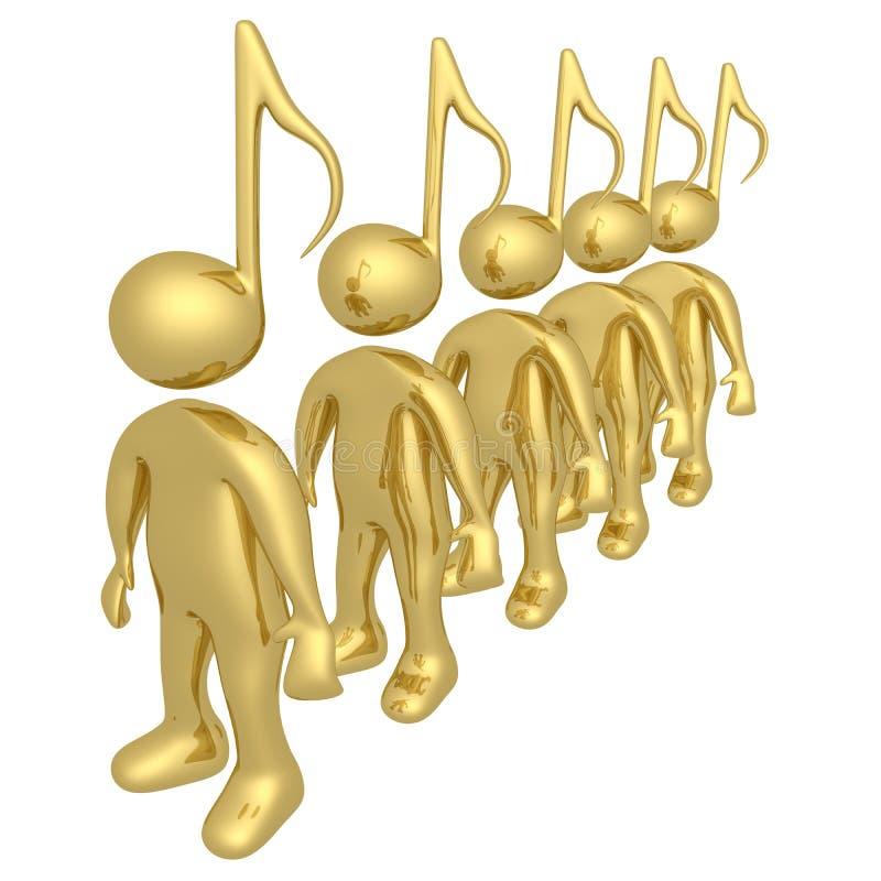 La gente di musica illustrazione vettoriale