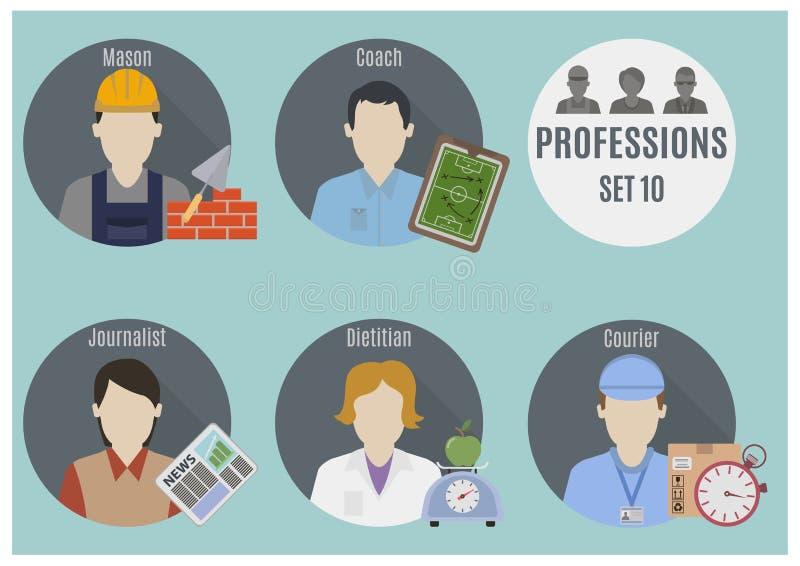La gente di professione Insieme 10 illustrazione di stock