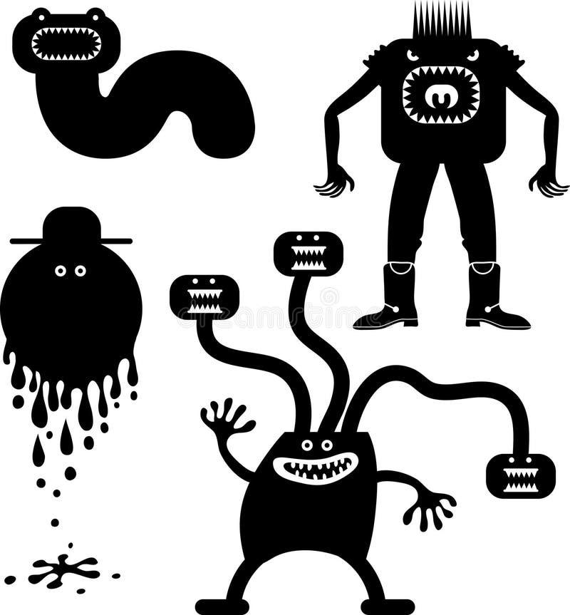 La gente di spavento illustrazione vettoriale