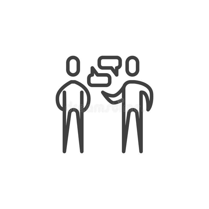 La gente dialoga la línea icono stock de ilustración