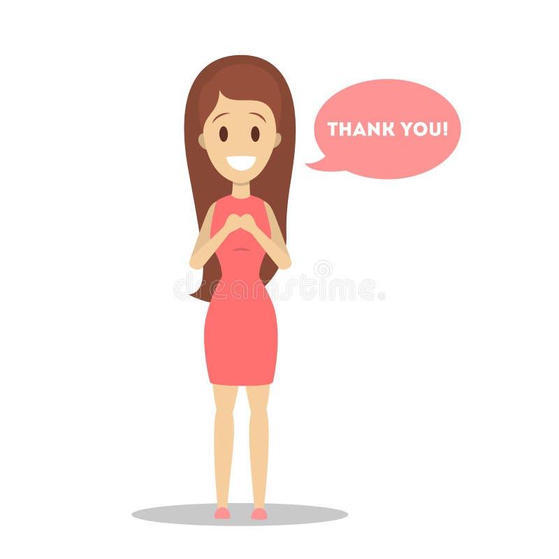 La gente dice le agradece libre illustration
