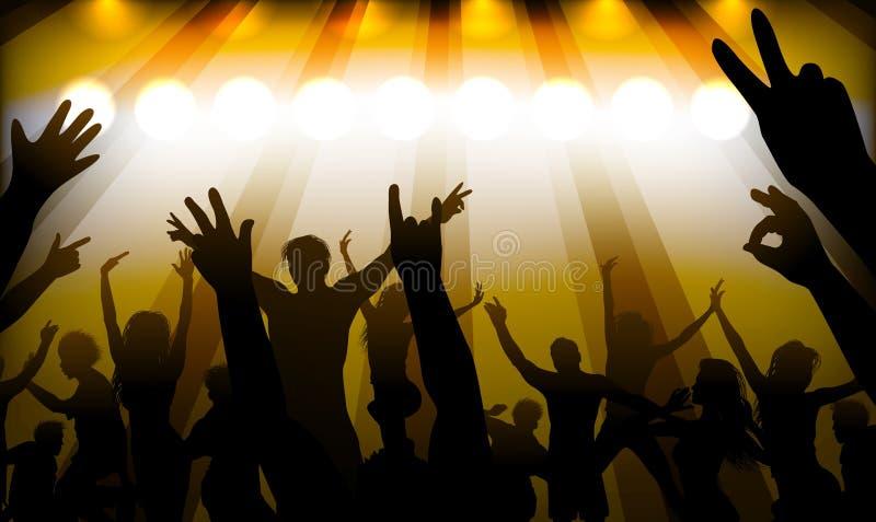 La gente divertendosi al concerto illustrazione di stock