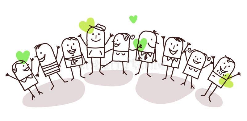 La gente e pace illustrazione di stock