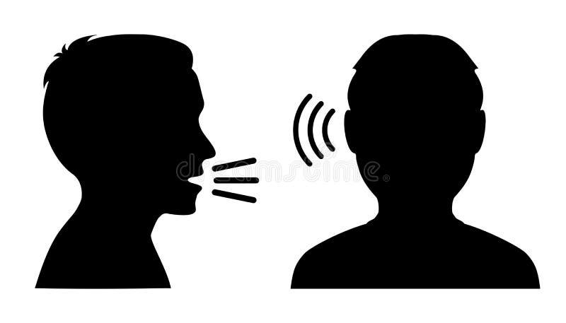 La gente habla: hable y escuche - vector ilustración del vector