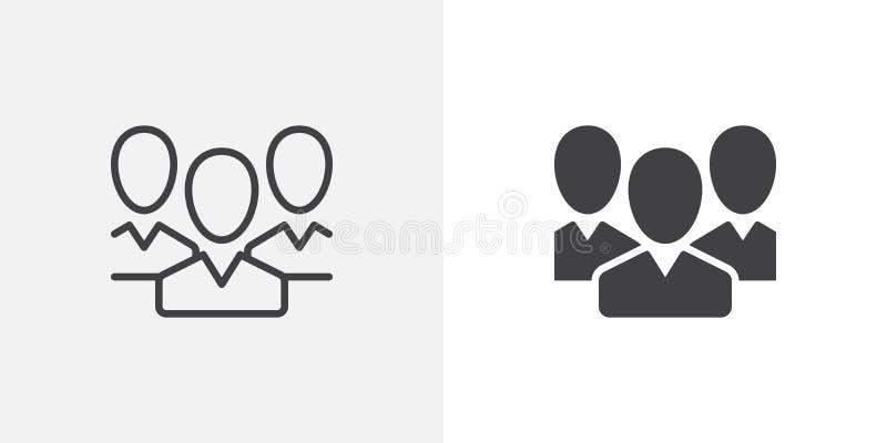 la gente, icona del gruppo illustrazione vettoriale