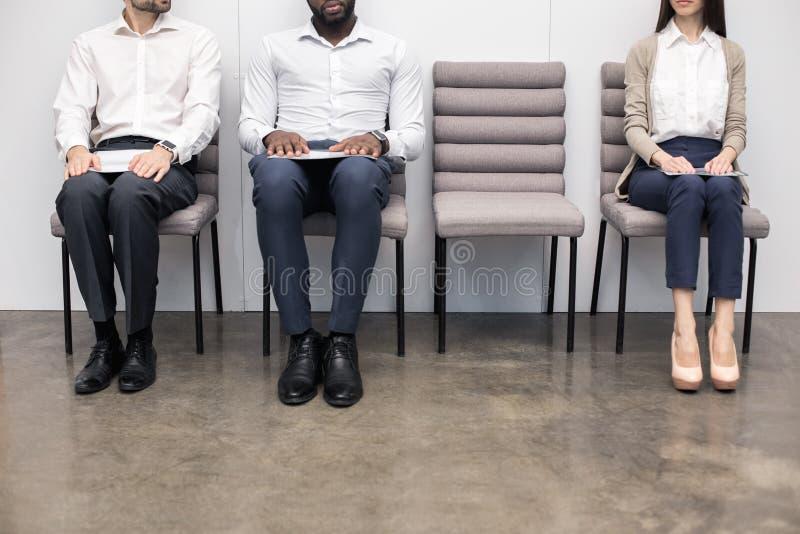 La gente Job Interview Concept aspettante immagini stock