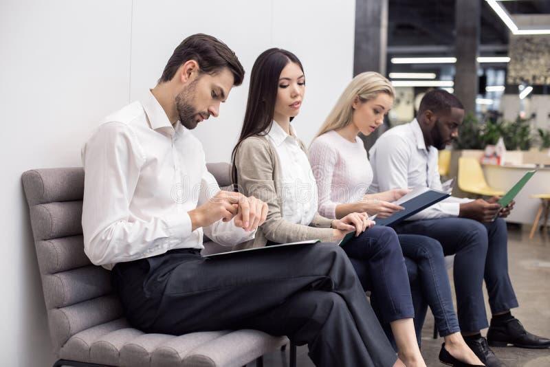 La gente Job Interview Concept aspettante fotografie stock libere da diritti