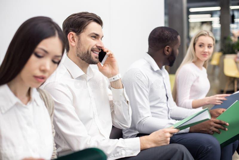 La gente Job Interview Concept aspettante fotografie stock