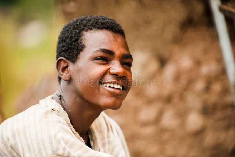La gente in LALIBELA, ETIOPIA immagini stock