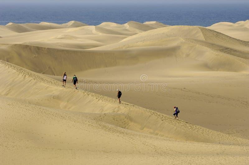 Download La gente nel deserto fotografia stock. Immagine di esplorazione - 3140514