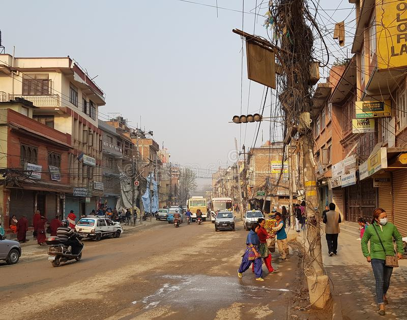 La gente nel Nepal fotografia stock