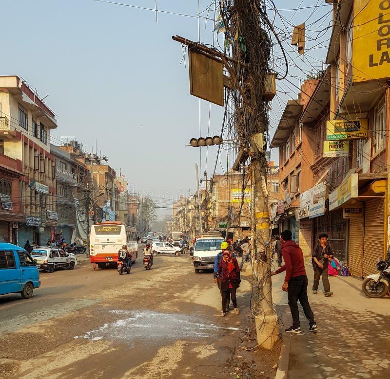 La gente nel Nepal immagine stock