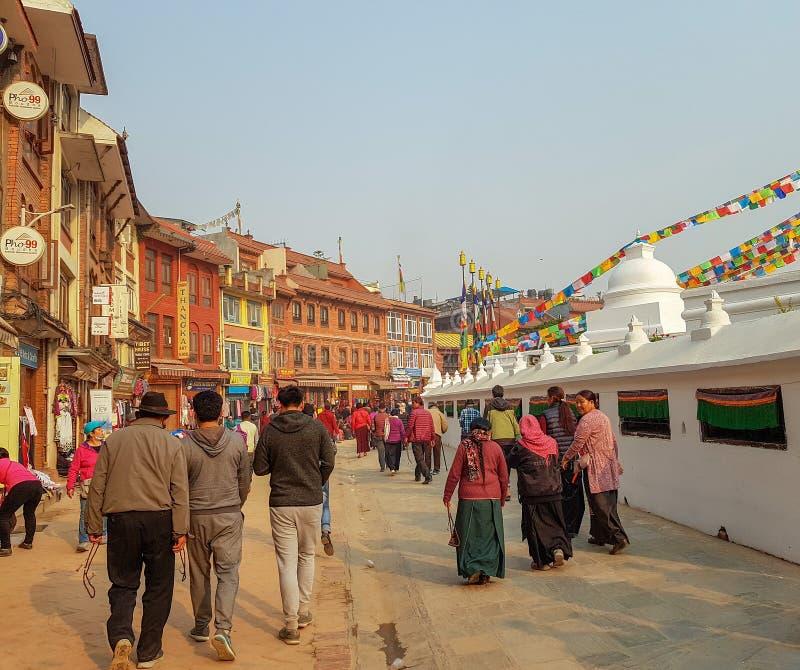 La gente nel Nepal fotografie stock