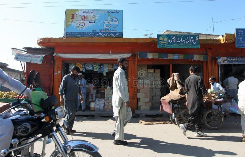 La gente nel Pakistan - una vita quotidiana immagine stock libera da diritti