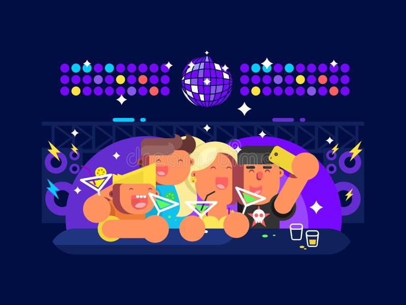 La gente in night-club illustrazione vettoriale