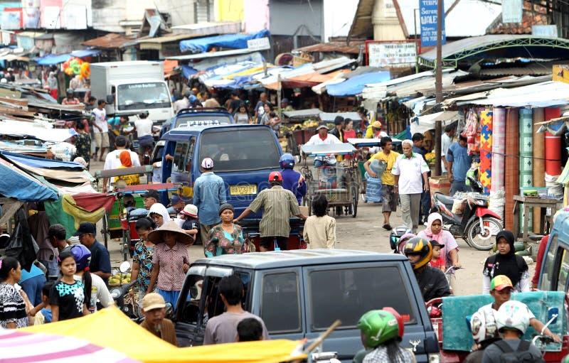 La gente a Palembang immagine stock libera da diritti