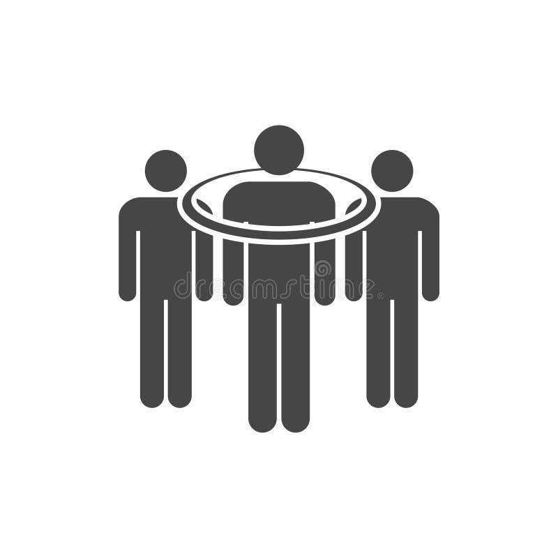 La gente que se colocaba, los iconos apuntados del consumidor fijó con la sombra larga libre illustration