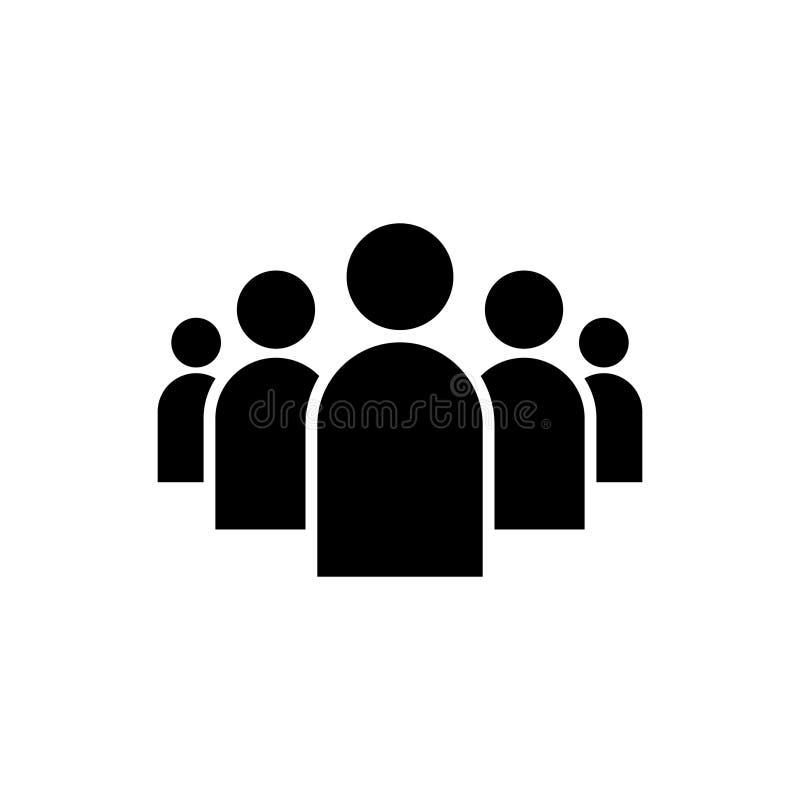 La gente raggruppa l'icona di vettore isolata su fondo bianco 9 illustrazione di stock
