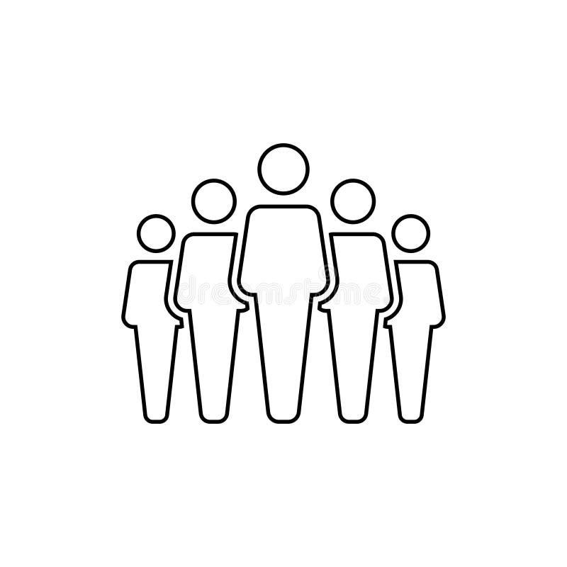 La gente raggruppa l'icona di vettore isolata su fondo bianco 11 royalty illustrazione gratis