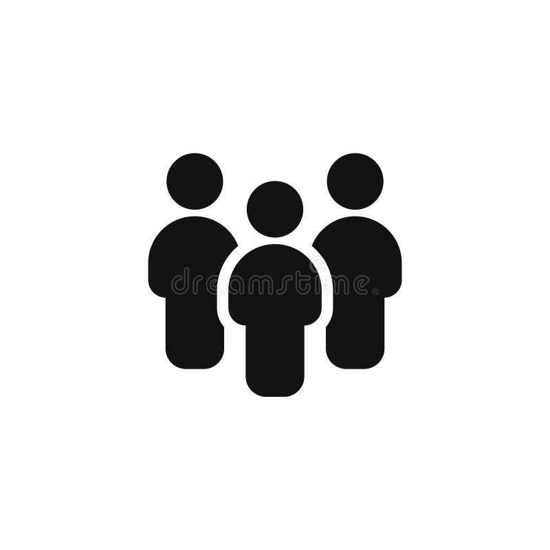 La gente raggruppa l'icona di vettore isolata su fondo bianco illustrazione vettoriale
