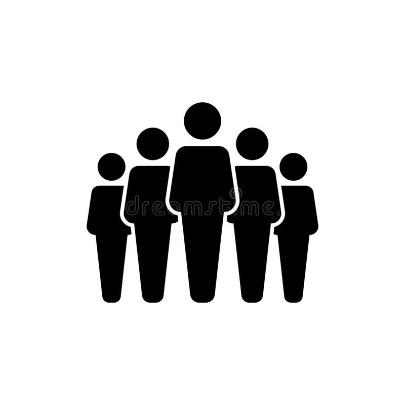 La gente raggruppa l'icona di vettore isolata su fondo bianco 10 illustrazione vettoriale