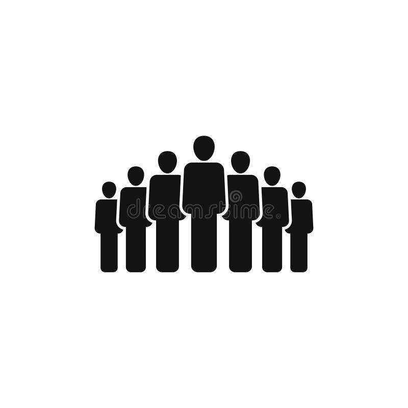 La gente raggruppa l'icona di vettore isolata su fondo bianco 3 illustrazione di stock