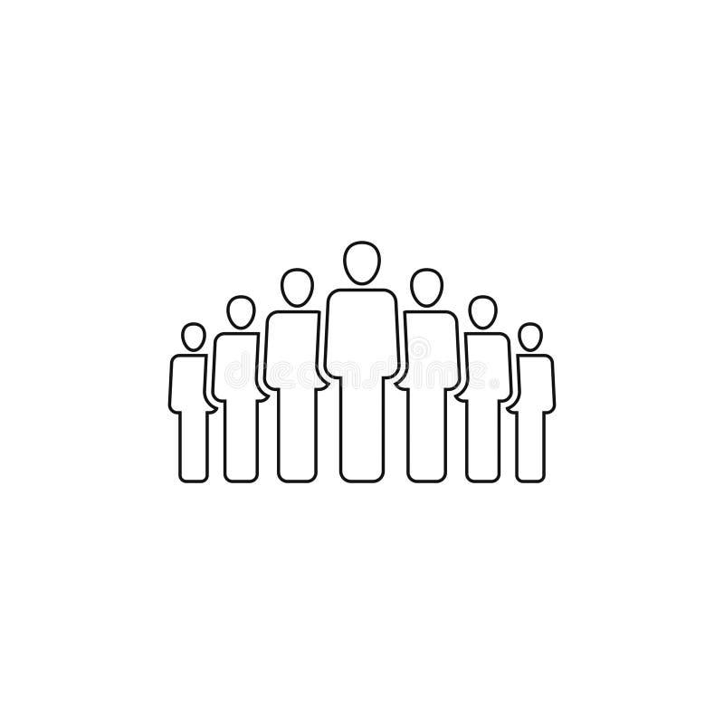 La gente raggruppa l'icona di vettore isolata su fondo bianco 5 illustrazione vettoriale