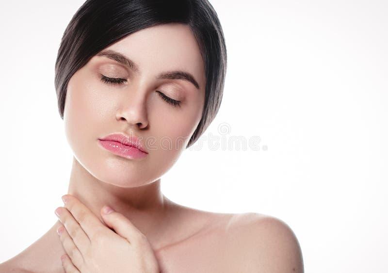 La gente, ritratto del fronte della donna di bellezza Spirito di modello di Girl della bella stazione termale immagine stock libera da diritti