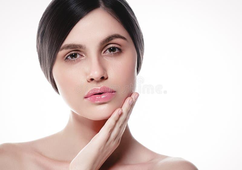 La gente, ritratto del fronte della donna di bellezza Spirito di modello di Girl della bella stazione termale fotografia stock