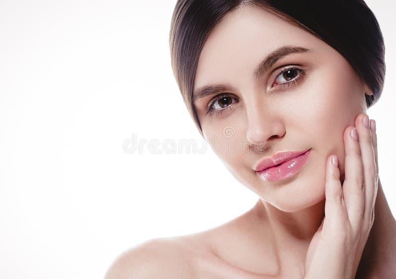 La gente, ritratto del fronte della donna di bellezza Spirito di modello di Girl della bella stazione termale immagini stock