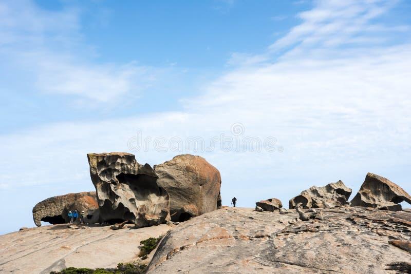 La gente in rocce notevoli, Australia fotografie stock