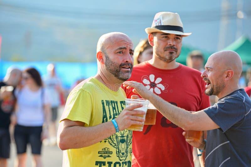La gente se divierte en el festival de la BOLA fotografía de archivo libre de regalías