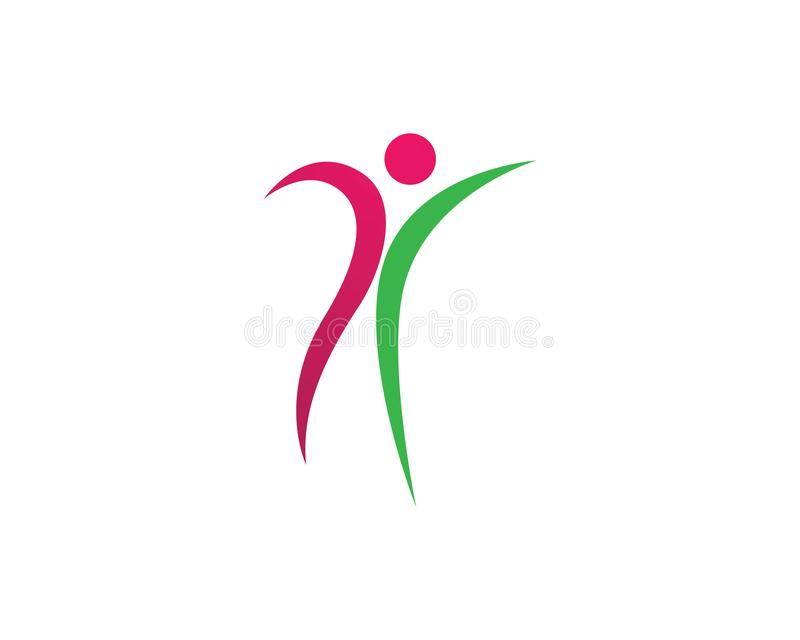 La gente si preoccupa le icone del modello di logo di vita di salute di successo illustrazione vettoriale