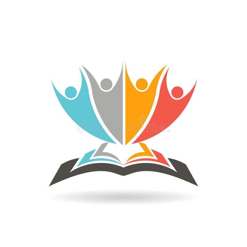 La gente sopra l'illustrazione di libro royalty illustrazione gratis