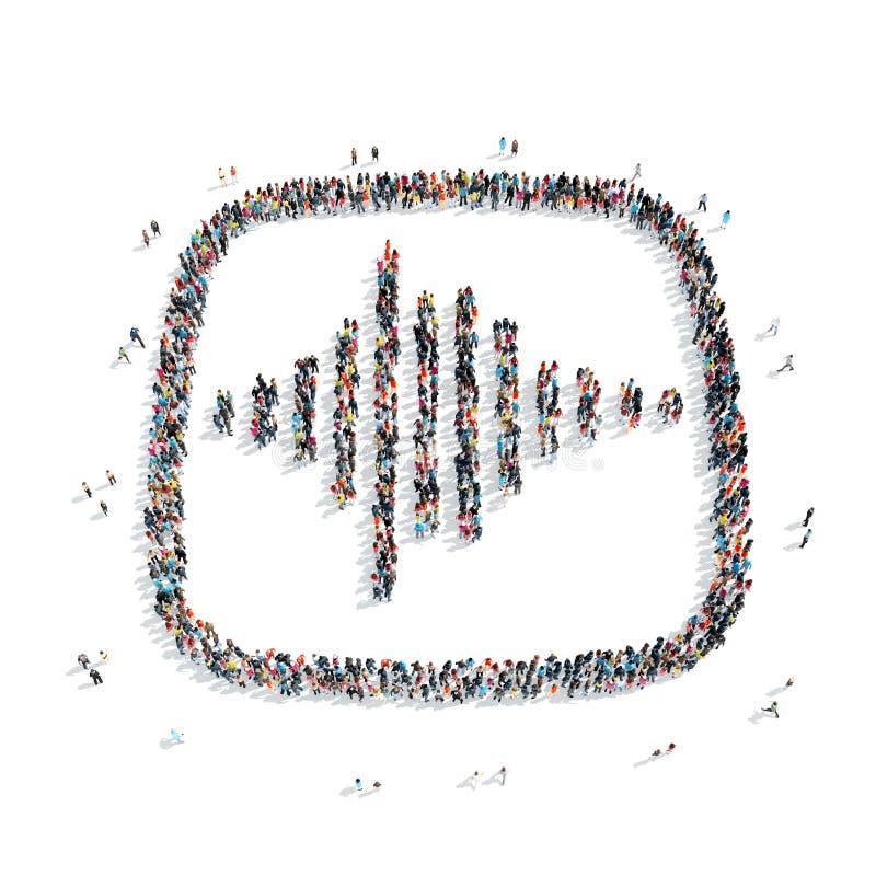 La gente sotto forma di simbolo astratto illustrazione di stock