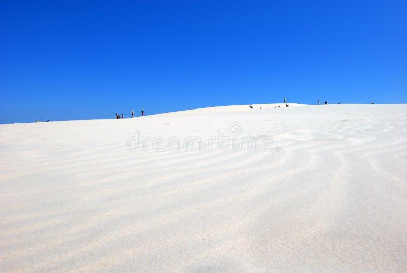 la gente sul deserto fotografia stock libera da diritti