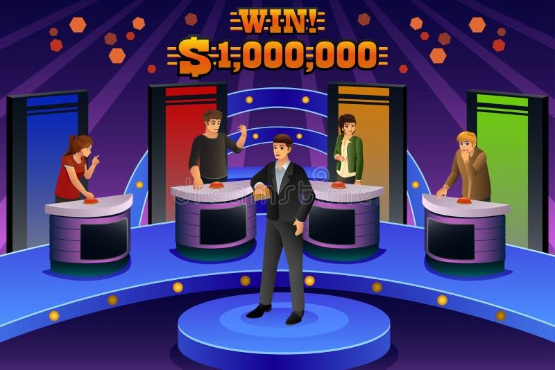 La gente sul gioco teletrasmesso illustrazione di stock